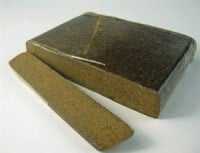 A picture of hash or hashish - a psychoactive cannabis resin product.