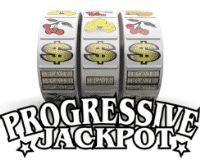 The words on the picture, under the slot machine spell: progressive jackpot.