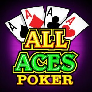 The picture depicts the logo of All Aces video poker by Microgaming. The picture acts as a link and by clicking on it, it will take you to a webpage, where you can play this 2018 game online for free, without registration.