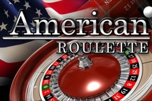 """On the picture is a Roulette table (with two zeros, this the Roulette table used for American Roulette). The US flag can be seen in the background. The words """"American Roulette"""" can be seen over the Roulette table on the picture. The picture acts as a link. By clicking on the picture you will be take to a webpage, where you can play American Roulette online."""