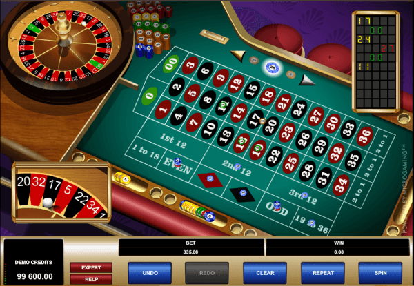 The picture shows you how the American Roulette game looks like