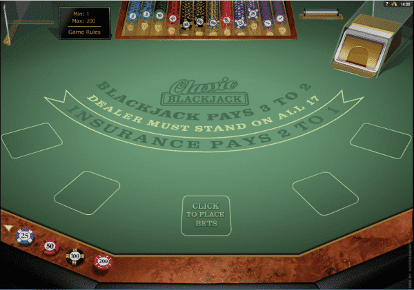 The picture shows you the features of the Classic Blackjack