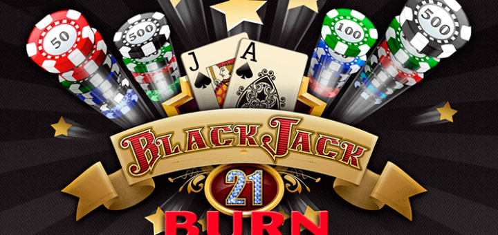 This is the header image of the webpage of the 21 Burn Blackjack game. You can play the game online for free, mobile compatible, on this site.