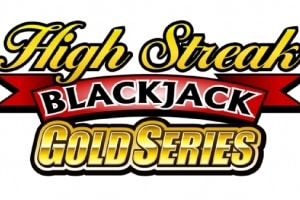 "This is the official logo of the Microgaming Quickfire High Streak Blackjack game. The picture is simply just a logo. The logo reads ""High Streak Blackjack Gold Series"". The picture acts as a link. By clicking on the picture you will be taken to a webpage, where you can play High Streak Blackjack online."