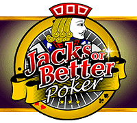 "This is the official logo of Jacks or Better by Pragmatic Play a 2016 video poker game. The logo consists of the words ""Jacks or Better"" and with a jack card in the background. The picture is a link. By clicking on the picture you will be taken to a new page, where you can play this free game online."