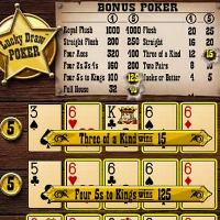 The picture is a screenshot of the video poker game Lucky Draw Bonus Poker. An exclusive video poker game of BGO casino. The screeenshot also acts as a link and by clicking on it you can play Lucky Draw Bonus Poker online, for free, without registration.