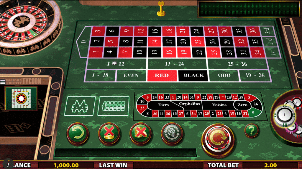 The picture shows you how the Monopoly Roulette Tycoon's table and wheel looks like. Under the picture you can read about the features of this roullete game.