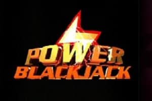 """The logo of Power Blackjack. The picture is simply the logo of Power Blackjack in front of a black background. The logo reads """"Power Blackjack"""". The picture acts as a link. By clicking on the picture you will be taken to a webpage, where you can play Power Blackjack online."""