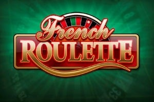 "A picture with a Roulette wheel. On the top of the Roulette wheel you can read the words ""French Roulette"". The picture acts as a link. By clicking on the picture you will be taken to a webpage, where you can play French Roulette online."