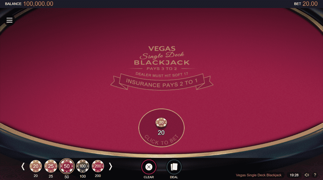 The picture shows you how to play Vegas Single Deck Blackjack. You can read about the features and how to play the game under this picture.