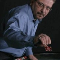 Dominic Loriggio throwing dice. He practiced dice control, a form of professional gambling.