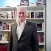 Peter Liston in a Bookstore. He's book is a good read for anyone considering becoming a professional gambler.