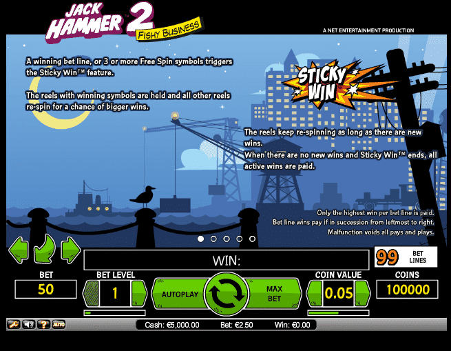 The picture shows you the bonus feature of the Jack Hammer 2 slot