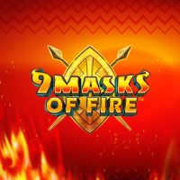 This the logo of the 9 Masks of Fire slot. Click on the picture to play the game.