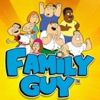 The logo of the Family Guy slot game. If you click the picture, you will be take to a page where you can play the Family Guy slot