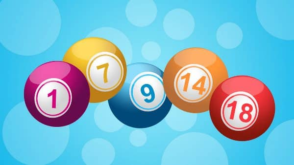 The picture depicts 5 Bingo balls in front of a light blue background. The numbers on the Bingo balls are 1, 7, 9, 14, 18. This picture is used as the header of the free Bingo section of my website. You can find free Bingo games under the picture.