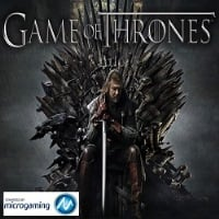 The official logo of Game of Thrones featuring the iron throne from the series.