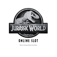 This is the logo of the 2017 Online Slot Jurassic World. Click on it to play with the game.