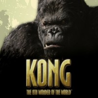 This is the logo of Kong - The 8th Wonder of The World online casino game. The game is based on King Kong and the picture depicts King Kong. You can try out the game by clicking on the log, which will open a new tab in your browser.