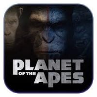 "This is a thumbnail of the movie license slot machine Planet of the Apes. Various ape faces with the words ""Planet of the Apes"" can be seen on the picture. To play with the free-to-play demo of this online gambling game click on the picture."