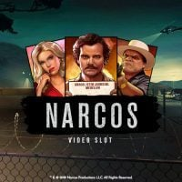 This is the 200x200 pixel logo of the slot game Narcos, based on the Netflix series of the same name. Click on the picture to start the game. opens on a new tab.