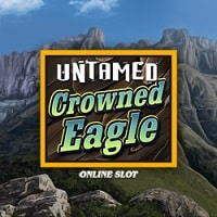Logo of the Untamed Crowned Eagle free slot. If you click on the picture, you'll be taken to a page, where you can play the Untamed: Crowned Eagle slot