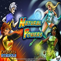 Logo of the Natural Powers free online slot. If you click on the picture, you'll be taken to a page where you can play the Natural Powers slot