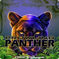 Logo of the Prowling Panther free online slot. If you click on the picture, you'll be taken to a page where you can play the Prowling Panther slot