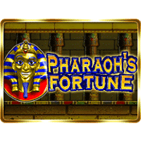Logo of the Pharaoh's Fortune free online slot. If you click on the picture, you'll be taken to a page where you can play the Pharaoh's Fortune slot