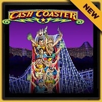 Logo of the Cash Coaster free online slot. If you click on the picture, you'll be taken to a page where you can play the Cash Coaster slot