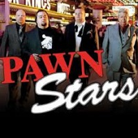 Logo of the Pawn Star free online slot. If you click the picture, you'll be taken to a page where you can play the Pawn Stars slot