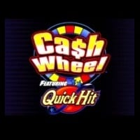 Logo of the Quick Hit: Cash Wheel free online slot. If you click the link, you'll be taken to a page where you can play the Cash Wheel slot.