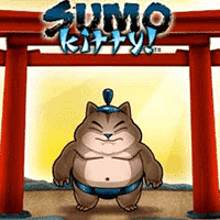 Logo of the Sumo Kitty free online slot. If you click the picture, you'll be taken to a page where you can play the Sumo Kitty slot.