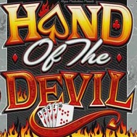 Logo of the Hand of the Devil free online slot. If you click the picture, you'll be taken to a page where you can play the Hand of the Devil slot.