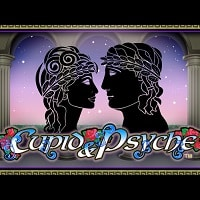 Logo of the Cupid and Psyche free online slot. If you click the picture, you'll be taken to a page where you can play the Cupid & Psyche slot.