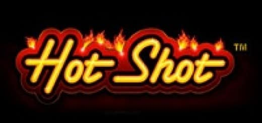 Logo of the Hot Shot free online slot.