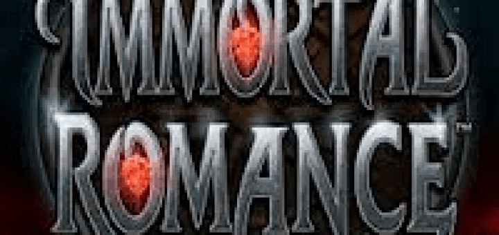 Logo of the Immortal Romance free online slot.