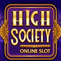 Logo of the High Society free online slot. If you click on the picture, you'll be taken to a page where you can play the High Society slot
