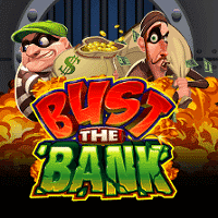 Logo of the Bust the Bank free online slot. If you click on the picture, you'll be taken to a page where you can play the Bust The Bank slot