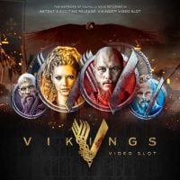This is the official logo of the online slot machine based on the History channel series Vikings. The main characters can be seen on the picture. To play the game, click on the picture.