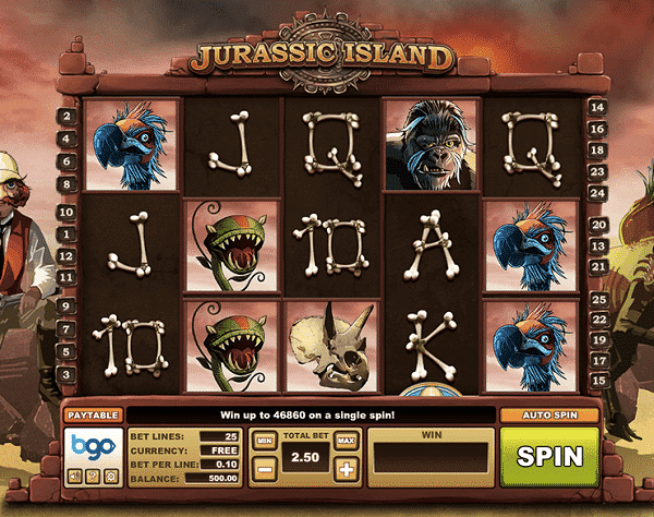 Screeshot of a free online slot machine, available at Simon's free casino.