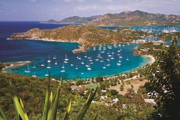 The view of the English Harbour, Antigua.