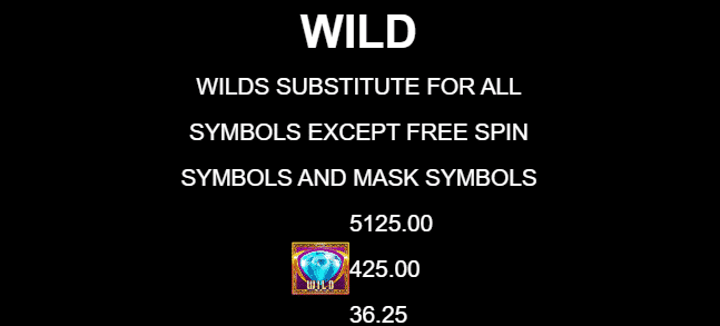 This is a picture of the 9 Masks of Fire wild diamond symbol from the 2019 Gameburger Studios game.