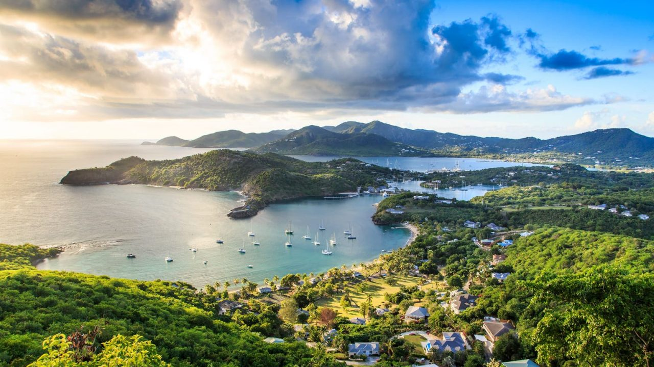 This is a picture of English Harbour, a town in the country of Antigua and Barbuda, on the main island, Antigua. On this page you can read about the legal status of gambling, online gambling, bingo, poker, sports betting, lottery, bitcoin, cryptocurrency gambling, casino gambling in Antigua and Barbuda + a list of licensed online gambling websites that accept players from the country.