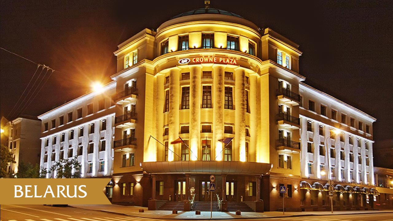 This a picture of the exterior of Diamond Princess Casino&Crown Plaza Hotel. Under the picture you can read about the gambling and online gambling laws, regulations of Belarus.