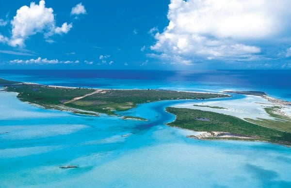 This is an aerial picture of the Turks and Caicos Islands. This is the header image of the Turks and Caicos gambling guide.