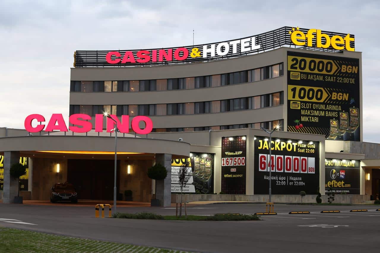 This a picture of the Casino&Hotel Efbet in Trakya, Bulgaria. Under the picture you can read about gambling and online gambling, sports betting, bingo, lottery, bitcoin gambling in Bulgaria.
