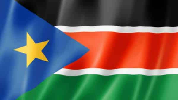 The flag of South Sudan.