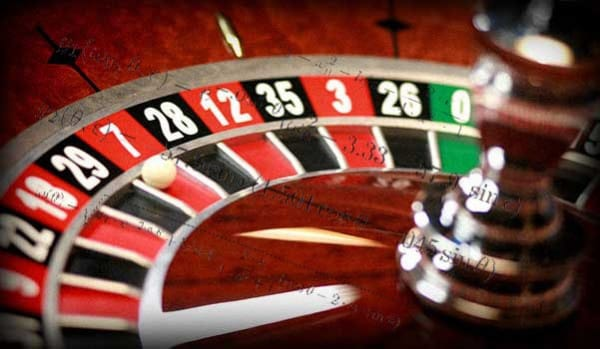 A roulette wheel and some equations - it represents how to win at roulette wheel bias is exploited through statistical analysis of tracked results