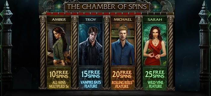 The picture shows you the free spin mode in the Immortal Romance onlne slot game